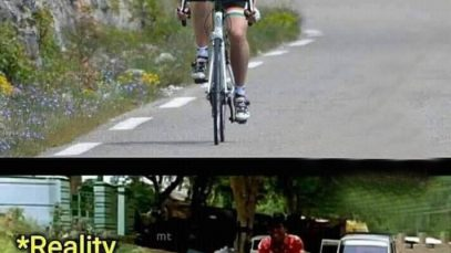 Cycling Expectation Reality