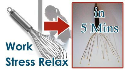 How to Make Scalp Massager @ Home for Head Massage, Mind Relax, Work Stress, Head Blood Circulation