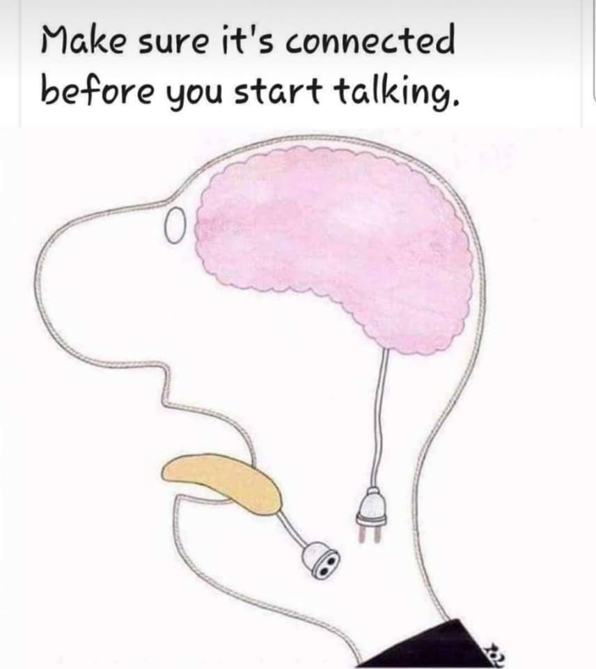 Make sure its connected before you start talking