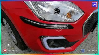 Rubber car bumper protector guard with chrome finish installation